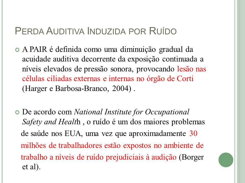 P ERDA A UDITIVA I NDUZIDA PELO R UÍDO A Norma Regulamentadora n.º 15 (NR-15), da Portaria MTb n.º3.214/1978 (BRASIL, 1978), estabelece os limites de exposição a ruído contínuo, conforme a Tabela, a seguir: