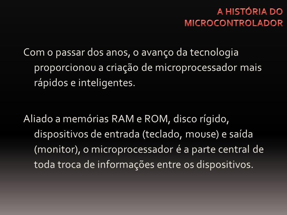 Com o passar dos anos, o avanço da tecnologia proporcionou a criação de microprocessador mais rápidos e inteligentes. Aliado a memórias RAM e ROM, dis