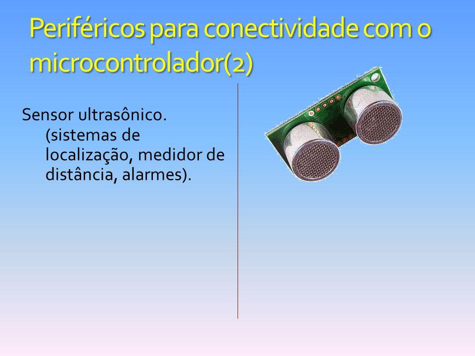 Periféricos para conectividade com o microcontrolador(2) Sensor ultrasônico. (sistemas de localização, medidor de distância, alarmes).
