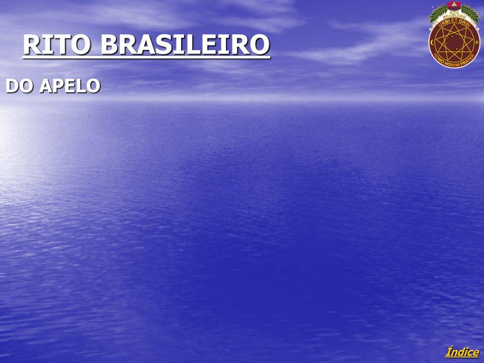 Índice RITO BRASILEIRO DO APELO