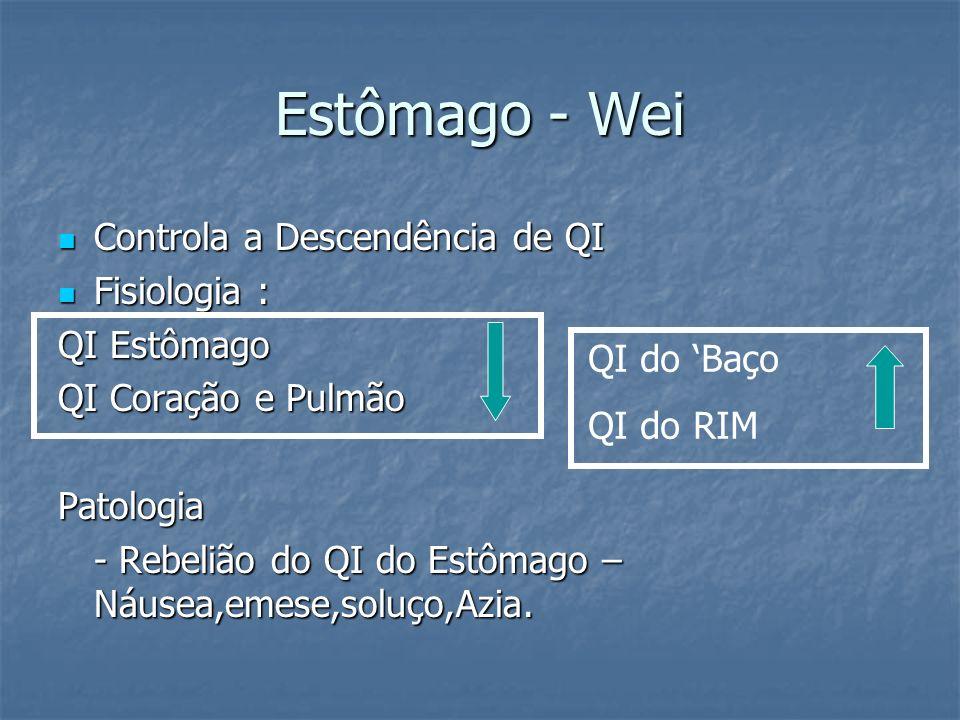 Estômago - Wei Controla a Descendência de QI Controla a Descendência de QI Fisiologia : Fisiologia : QI Estômago QI Coração e Pulmão Patologia - Rebel