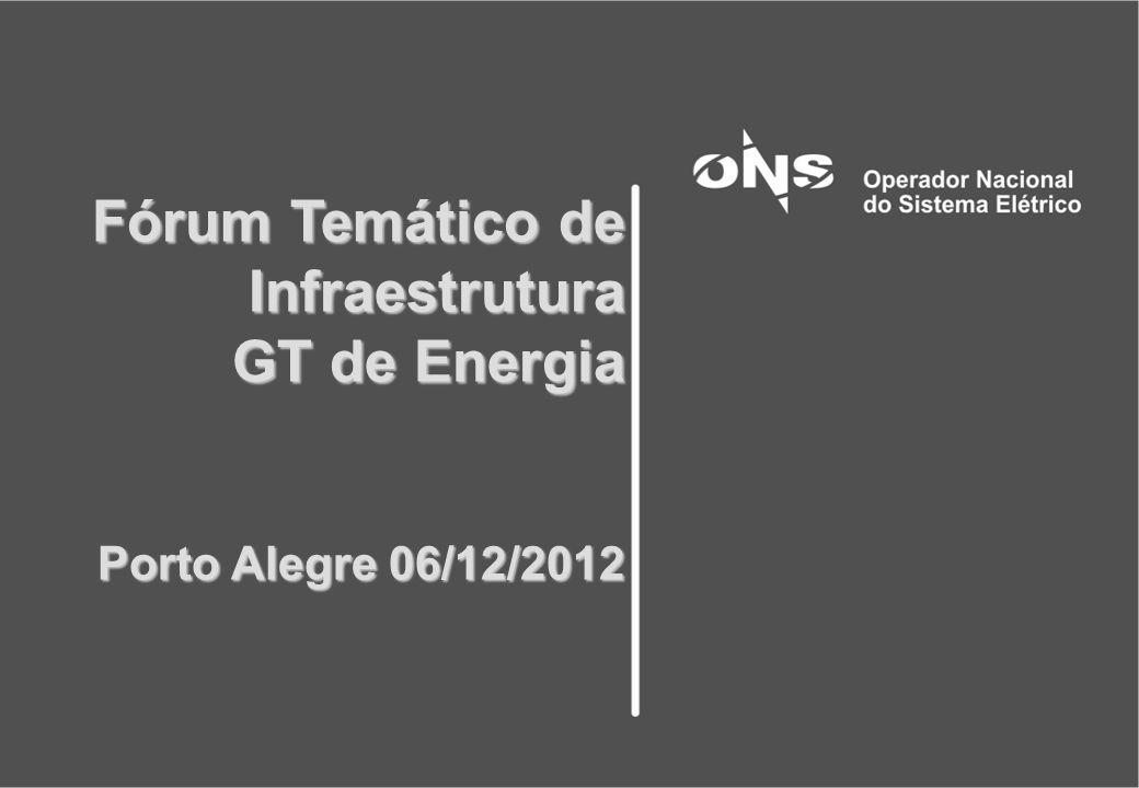 Fórum Temático de Infraestrutura GT de Energia Porto Alegre 06/12/2012 Fórum Temático de Infraestrutura GT de Energia Porto Alegre 06/12/2012