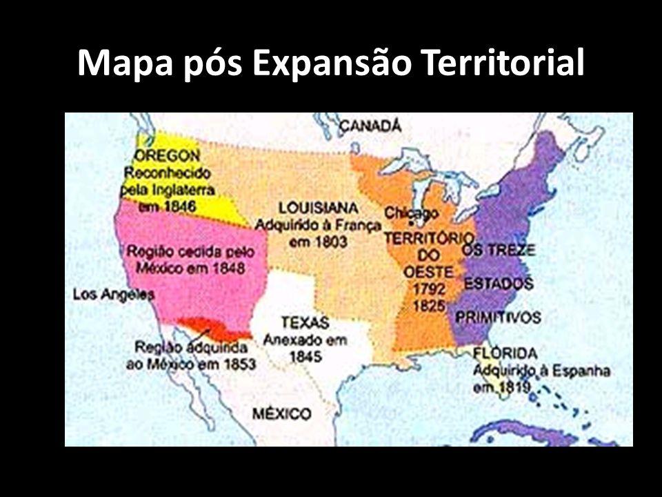 Mapa pós Expansão Territorial