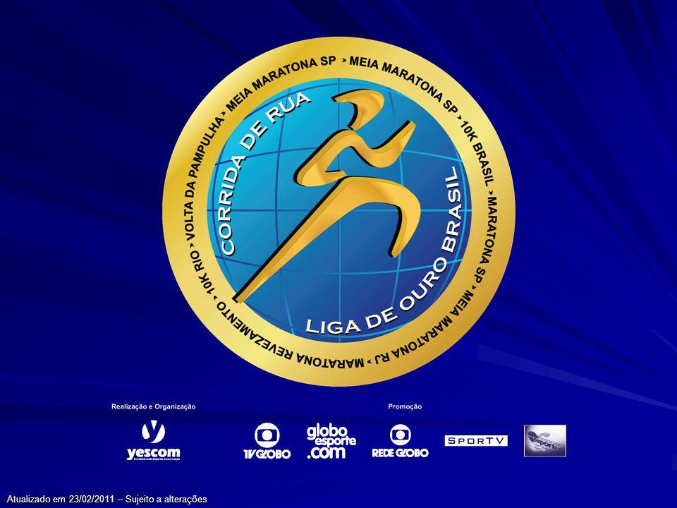Liga de Ouro A Liga de Ouro Brasil de Corridas de Rua, circuito de oito provas organizadas e/ou realizadas pela Yescom e TV Globo, é a grande novidade do atletismo nacional.
