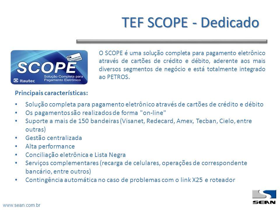 O SCOPE é uma solução completa para pagamento eletrônico através de cartões de crédito e débito, aderente aos mais diversos segmentos de negócio e est