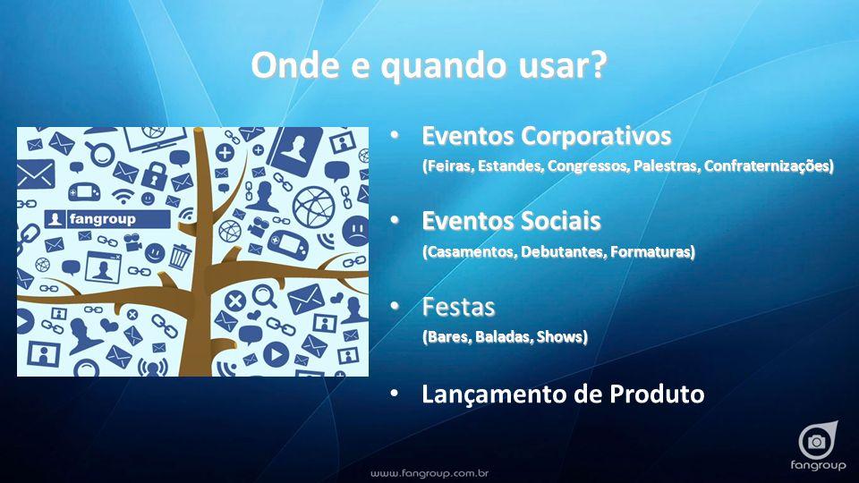 Onde e quando usar? Eventos Corporativos Eventos Corporativos (Feiras, Estandes, Congressos, Palestras, Confraternizações) (Feiras, Estandes, Congress