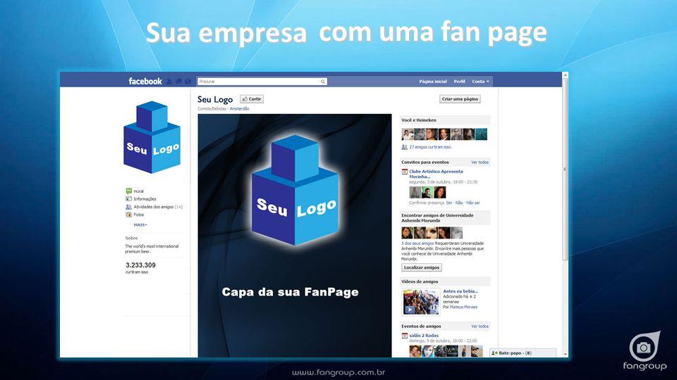 Sua empresa com uma fan page
