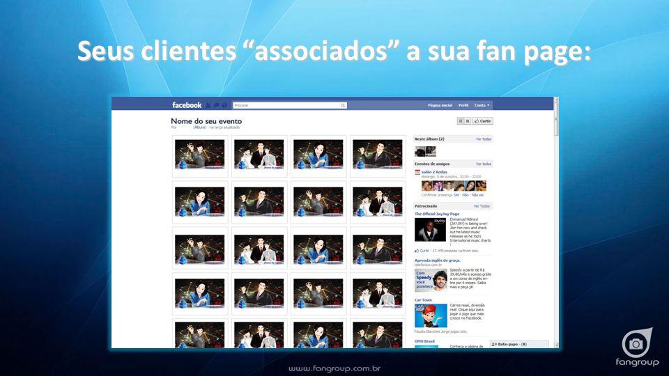 Seus clientes associados a sua fan page: