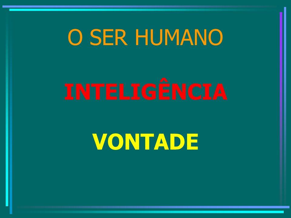 O SER HUMANO INTELIGÊNCIA VONTADE