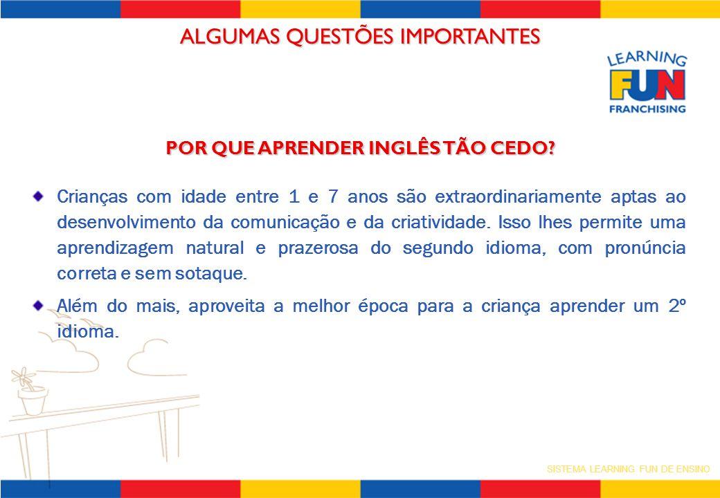SISTEMA LEARNING FUN DE ENSINO QUAIS OS BENEFÍCIOS QUE O LEARNING FUN OFERECE AOS PAIS.
