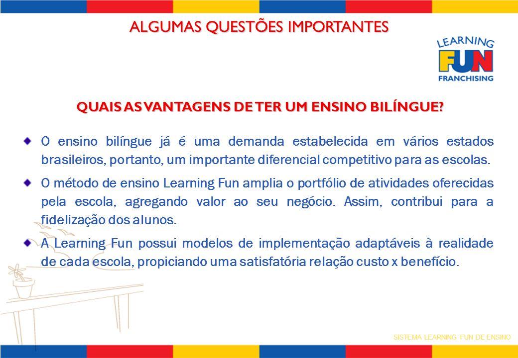 SISTEMA LEARNING FUN DE ENSINO QUAIS AS VANTAGENS DE TER UM ENSINO BILÍNGUE? O ensino bilíngue já é uma demanda estabelecida em vários estados brasile