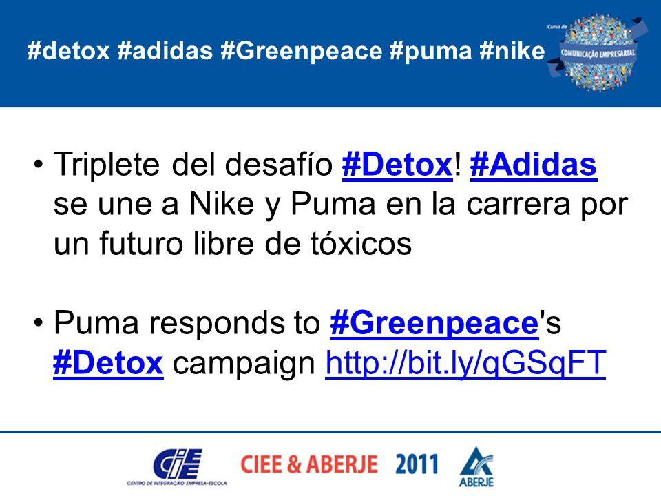 #detox #adidas #Greenpeace #puma #nike Triplete del desafío #Detox! #Adidas se une a Nike y Puma en la carrera por un futuro libre de tóxicos#Detox#Ad