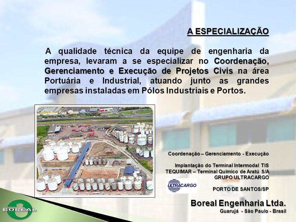 A ESPECIALIZAÇÃO Coordenação, Gerenciamento e Execução de Projetos Civis A qualidade técnica da equipe de engenharia da empresa, levaram a se especial