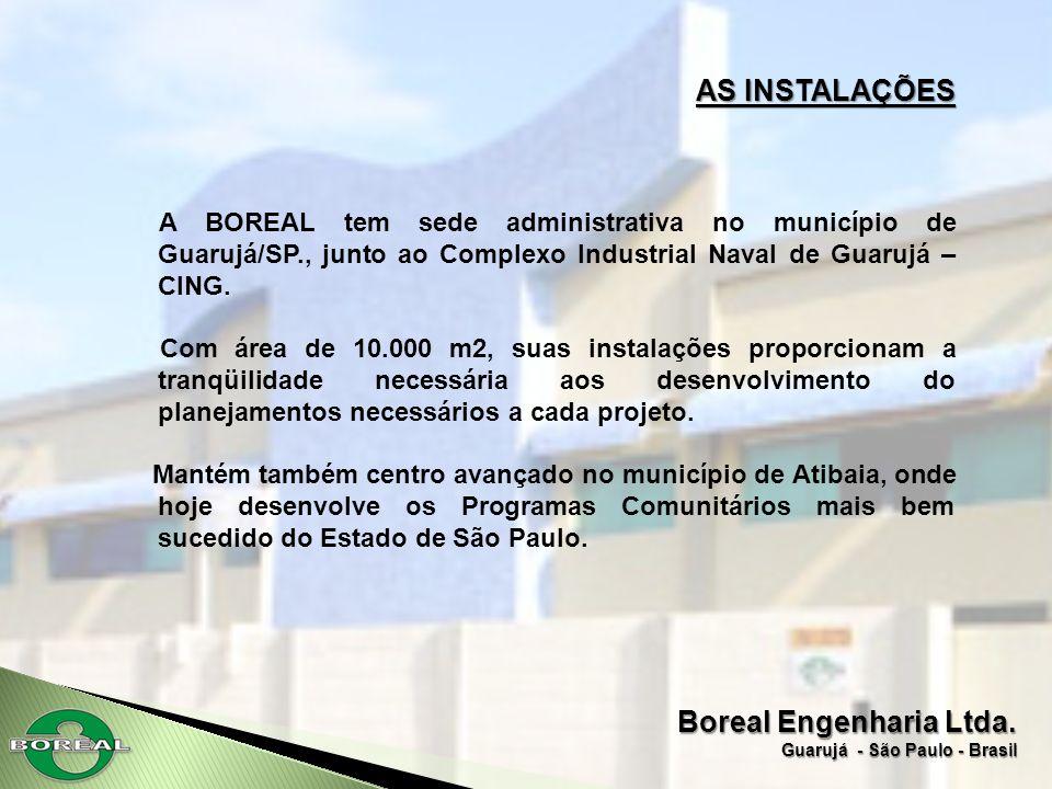 Boreal Engenharia Ltda. Guarujá - São Paulo - Brasil AS INSTALAÇÕES A BOREAL tem sede administrativa no município de Guarujá/SP., junto ao Complexo In