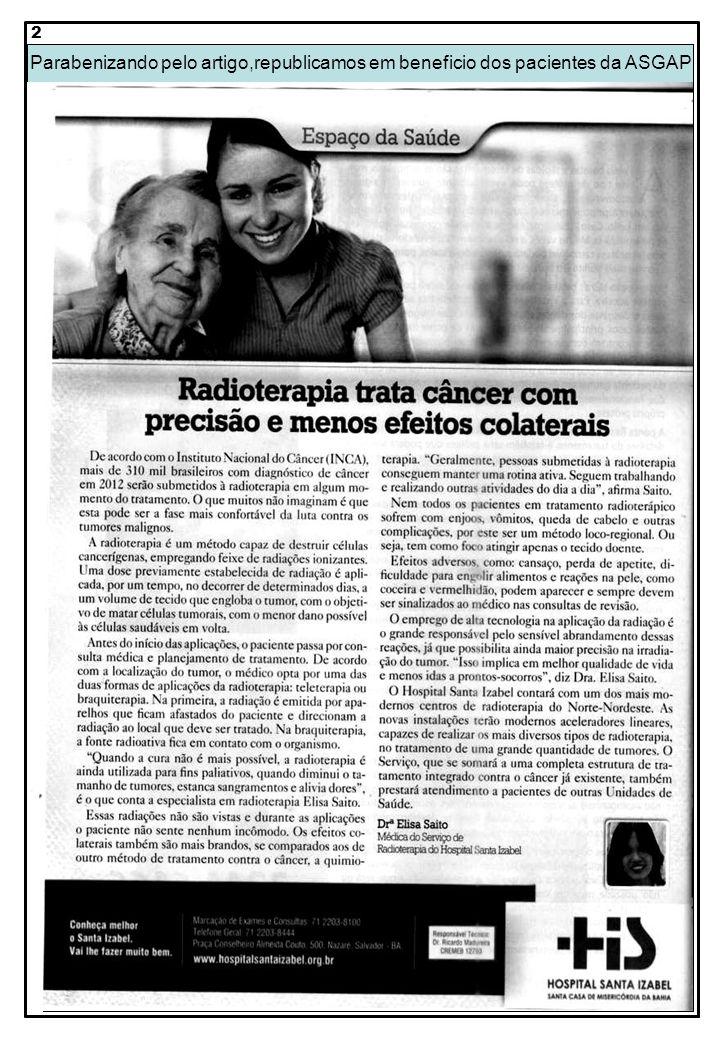 2 Parabenizando pelo artigo,republicamos em beneficio dos pacientes da ASGAP