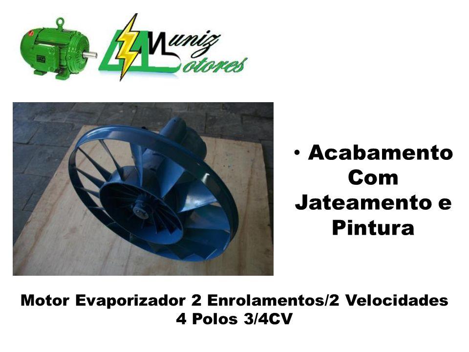 Motor Evaporizador 2 Enrolamentos/2 Velocidades 4 Polos 3/4CV Acabamento Com Jateamento e Pintura
