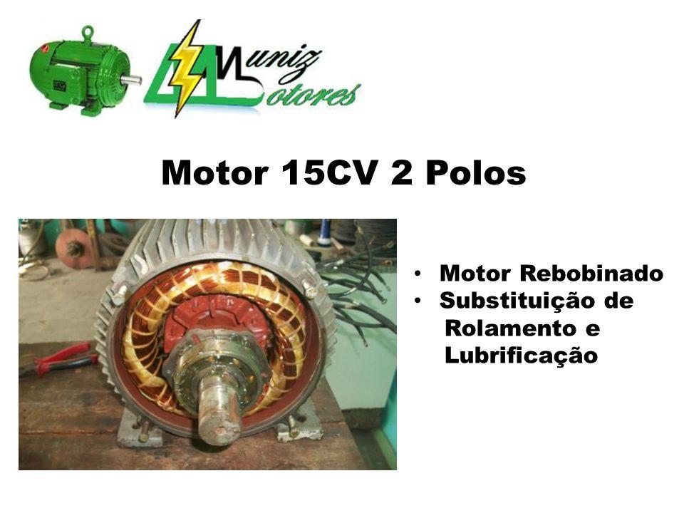 Motor Evaporizador 2 Enrolamentos/2 Velocidades 4 Polos 3/4CV Eixo com Avaria