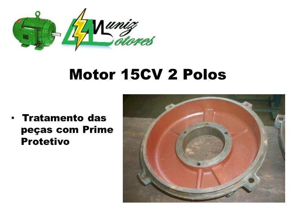 Motor de Indução Trifásico 25CV 8 Polos Retirado da Carcaça do Compressor Motor Queimado