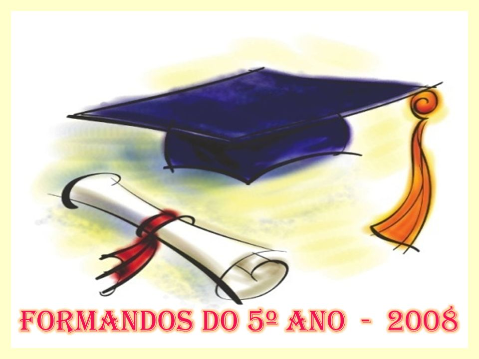 Os formandos do 5º ano do Ensino Fundamental da Escola Lumar, sentir-se-ão honrados com a presença de V.Sª e família na solenidade de sua formatura.