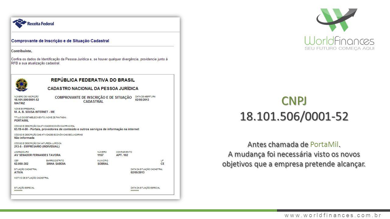 SERVIÇOS www.worldfinances.com.br WF Personal Software online para gerenciamento financeiro pessoal completo.