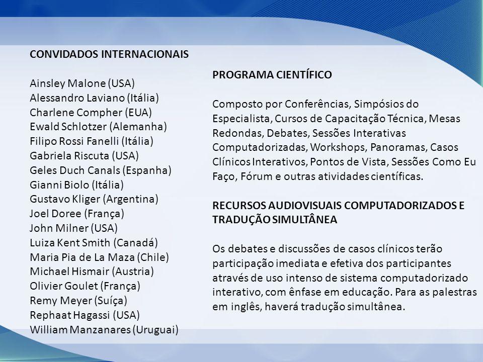 COTAS DE PATROCÍNIOS ESPECIAISVALORES PROGRAMAÇÃO CIENTÍFICA SIMPÓSIOS GRANDES TEMAS - TEATRO (1,5h - das 12h30 às 14h)R$ 85.744,00 SÍMPÓSIOS DE ESPECIALIDADES - SALA 1 (200 lugares) (1,5h - das 12h30 às 14h00)R$ 46.989,00 SIMPÓSIOS DE ESPECIALIDADES - SALA 2 (250 lugares) (1,5h - das 12h30 às 14h00)R$ 58.775,81 SIMPÓSIOS DE ESPECIALIDADES - SALA 3 (300 lugares) (1,5h _das 12h30 às 14h00)R$ 70.571,70 SIMPÓSIOS TEATRO (2h)R$ 68.865,22 SIMPÓSIOS - SALA 1 (2h)R$ 38.905,53 SIMPÓSIOS - SALA 2 (2h)R$ 48.633,04 SIMPÓSIOS - SALA 3 (2h)R$ 58.359,62 CONFERÊNCIA MAGNA - TEATROR$ 30.979,48 CONFERÊNCIA PATROCINADA - SALA 1R$ 13.419,58 CONFERÊNCIA PATROCINADA - SALA 2 R$ 17.445,50 CONFERÊNCIA PATROCINADA - SALA 3R$ 20.129,42 FÓRUM PAULISTA DE PESQUISAR$ 38.760,98 ANAIS DO V CBNC E GANEPÃO 2012 (Anúncio) R$ 7.604,37 / Pág.