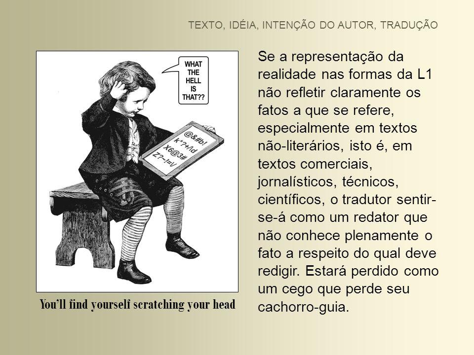 Se a intenção do autor não estiver clara, o tradutor será um barco sem rumo.