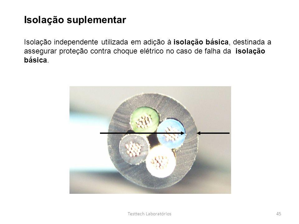 Isolação suplementar Isolação independente utilizada em adição à isolação básica, destinada a assegurar proteção contra choque elétrico no caso de fal