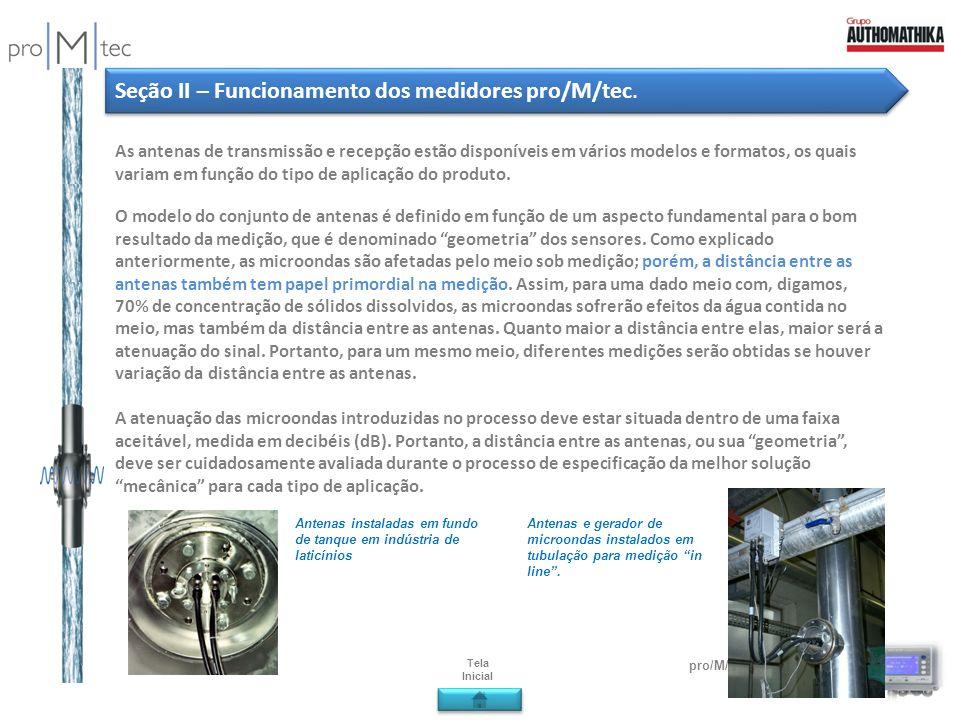 pro/M/tec µ-ICC 2.45 Compact As antenas de transmissão e recepção estão disponíveis em vários modelos e formatos, os quais variam em função do tipo de