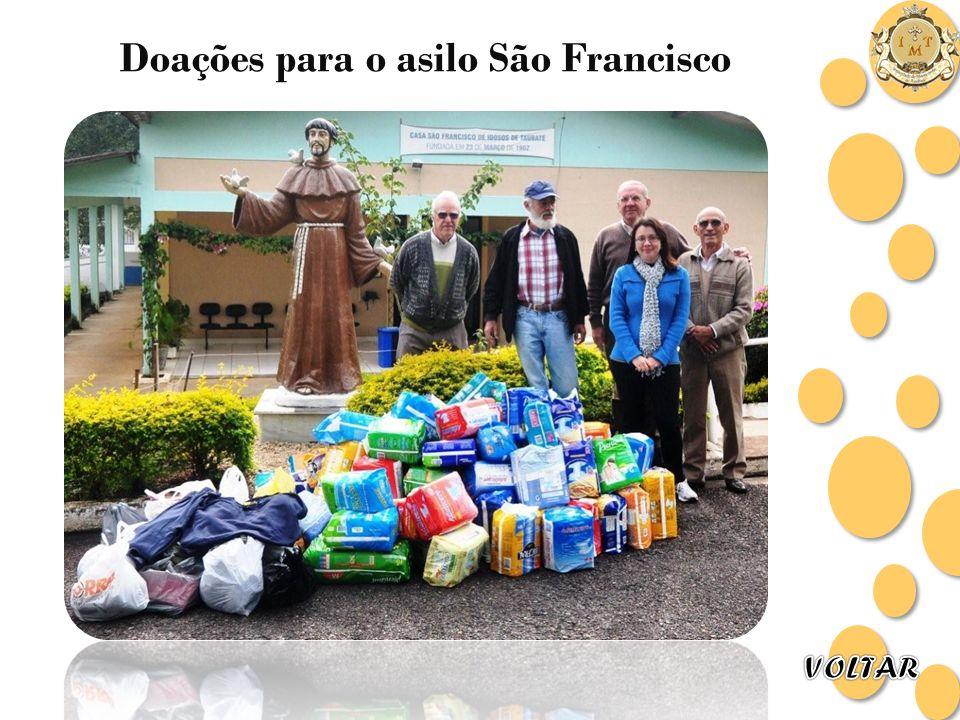 Doações para o asilo São Francisco