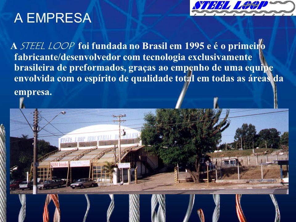 A EMPRESA A STEEL LOOP foi fundada no Brasil em 1995 e é o primeiro fabricante/desenvolvedor com tecnologia exclusivamente brasileira de preformados, graças ao empenho de uma equipe envolvida com o espírito de qualidade total em todas as áreas da empresa.