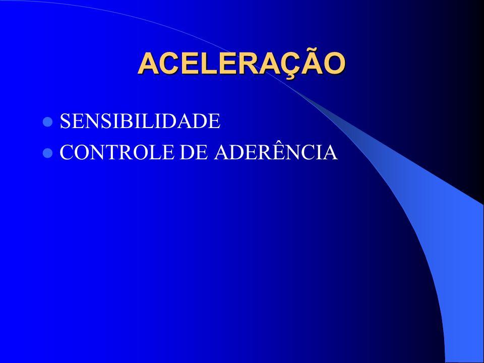 ACELERAÇÃO SENSIBILIDADE CONTROLE DE ADERÊNCIA