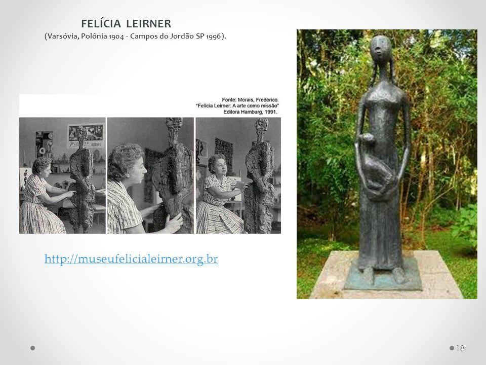 FELÍCIA LEIRNER (Varsóvia, Polônia 1904 - Campos do Jordão SP 1996). http://museufelicialeirner.org.br 18