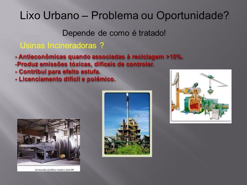 Lixo Urbano – Problema ou Oportunidade.Depende de como é tratado.
