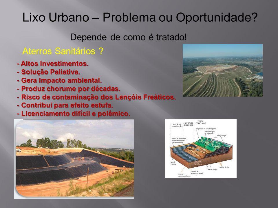 Pode ser construída em área urbana.{Compacta e Inodora} {Elimina longos transportes} Economicamente viável.