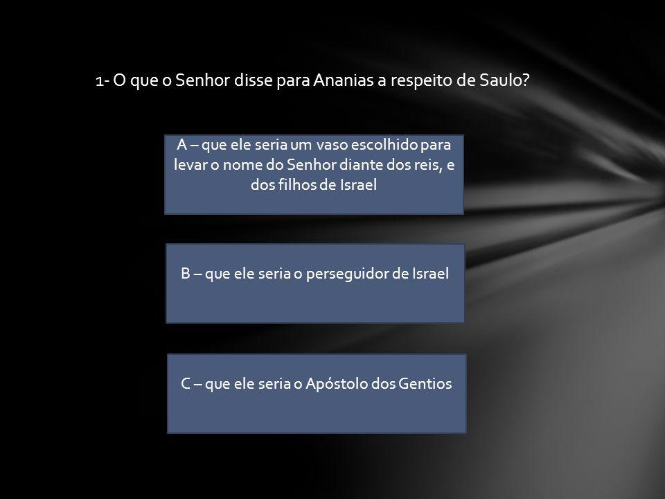 Iniciar Quiz CLASSE NAZIREU QUIZ DO SAULO