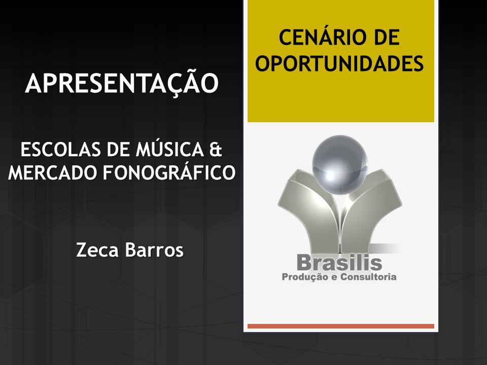 APRESENTAÇÃO ESCOLAS DE MÚSICA & MERCADO FONOGRÁFICO Zeca Barros CENÁRIO DE OPORTUNIDADES