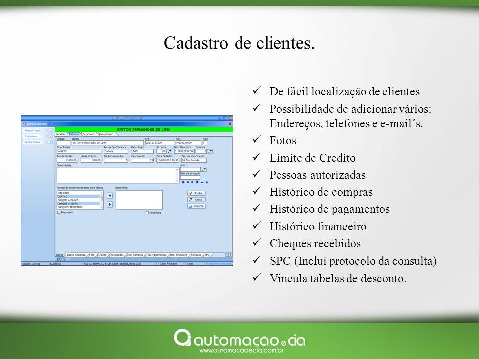 Multi loja: Controle em seu escritório central / e ou notebook todas suas lojas em um só lugar.