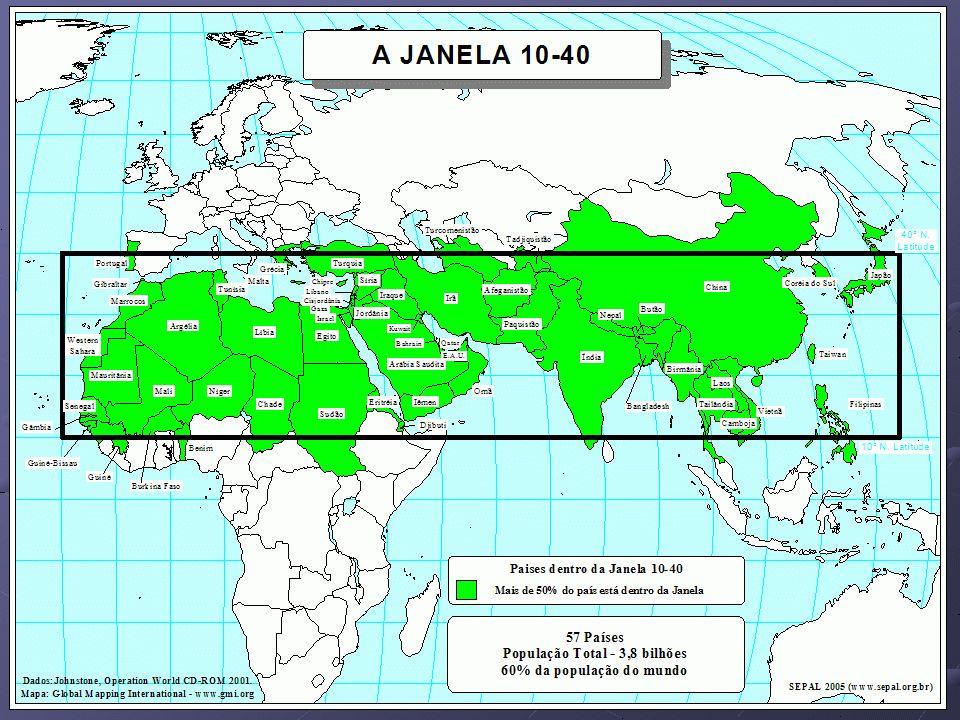 A quinta razão pela qual devemos fixar a nossa atenção na Janela 10/40é porque nela se encontra o maior grupo espiritualmente quebrado de megapovos etnolingüísticos (mais de 1 milhão).