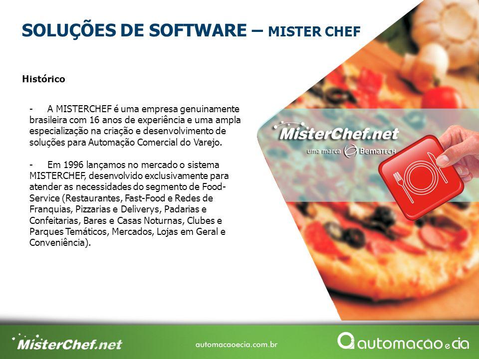 -A MISTERCHEF é uma empresa genuinamente brasileira com 16 anos de experiência e uma ampla especialização na criação e desenvolvimento de soluções para Automação Comercial do Varejo.