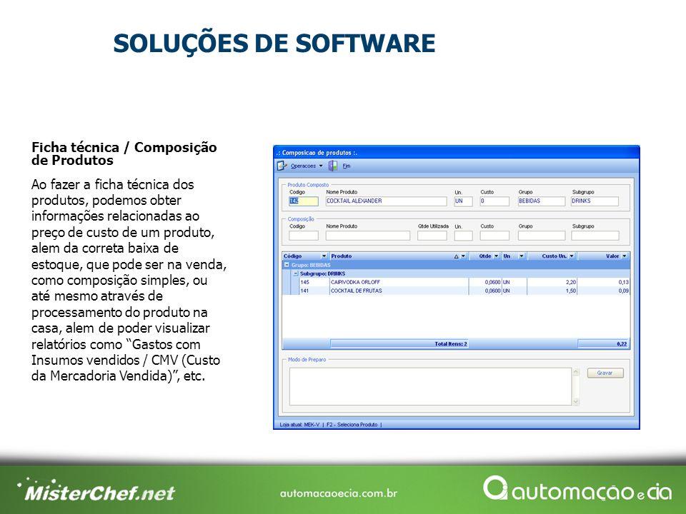 Ficha técnica / Composição de Produtos Ao fazer a ficha técnica dos produtos, podemos obter informações relacionadas ao preço de custo de um produto,