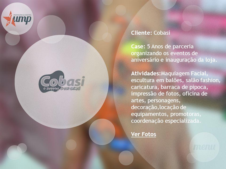 Cliente: Cobasi Case: 5 Anos de parceria organizando os eventos de aniversário e inauguração da loja. Atividades:Maquiagem Facial, escultura em balões