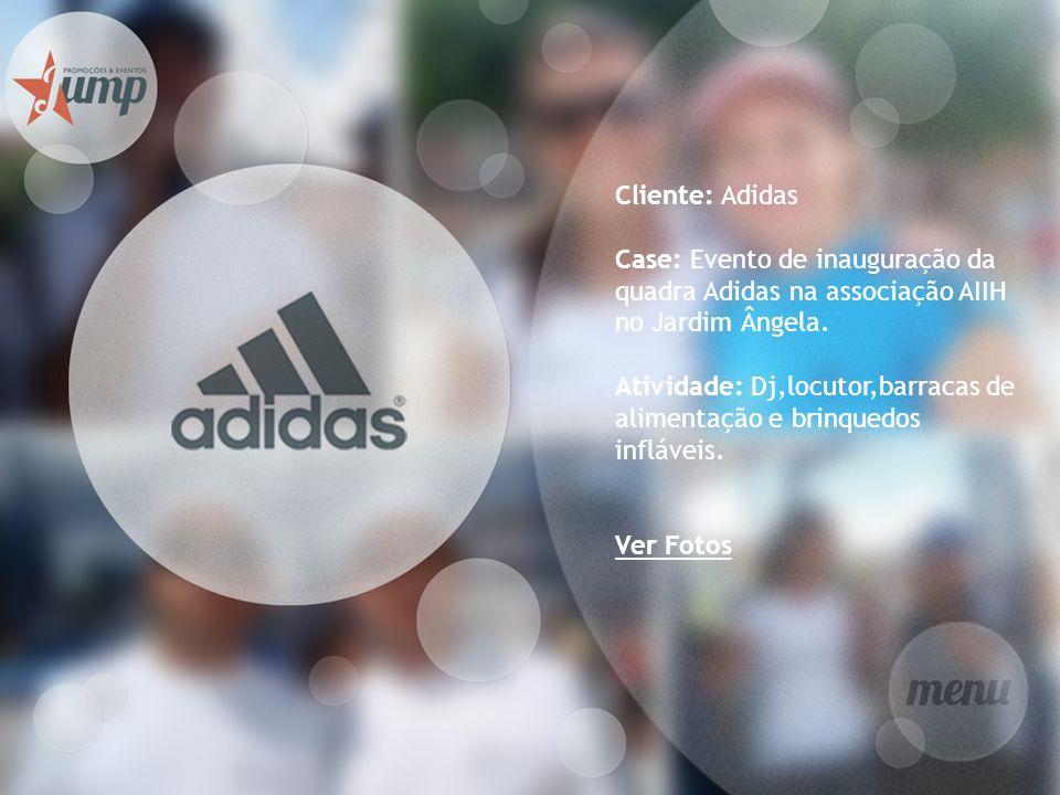 Cliente: Adidas Case: Evento de inauguração da quadra Adidas na associação AIIH no Jardim Ângela. Atividade: Dj,locutor,barracas de alimentação e brin
