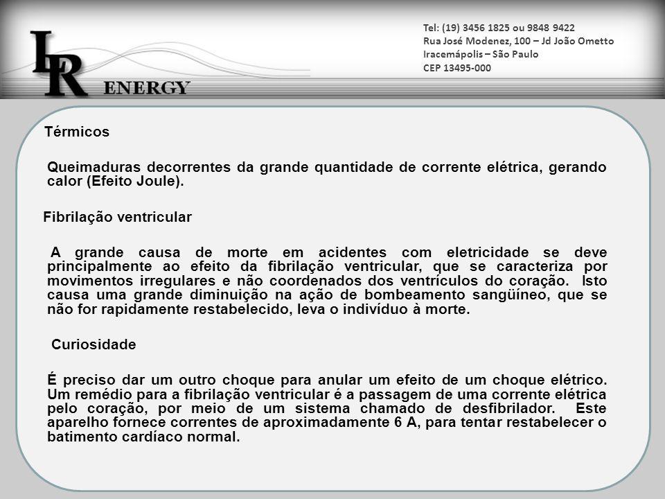 Tel: (19) 3456 1825 ou 9848 9422 Rua José Modenez, 100 – Jd João Ometto Iracemápolis – São Paulo CEP 13495-000 A NBR-5410 no item 5.1.2.5, trata do uso da extra baixa tensão como proteção básica, dispensando o uso de barreiras ou invólucros se; a) a tensão nominal do sistema SELV ou PELV não for superior a 25V, valor eficaz, em corrente alternada, ou a 60V em corrente contínua sem ondulação, e o sistema for usado sob condições de influências externas cuja severidade, do ponto de vista da segurança contra choques elétricos, não ultrapasse aquela correspondente à situação 1 do anexo C;ou b) a tensão nominal do sistema SELV ou PELV não for superior a 12V, valor eficaz, em corrente alternada, ou a 30V em corrente contínua sem ondulação, e o sistema for usado sob condições de influências externas cuja severidade, do ponto de vista da segurança contra choques elétricos, não ultrapasse aquela correspondente à situação 2 do anexo C;e c) adicionalmente, no caso de sistemas PELV, se as massas e ou partes vivas cujo aterramento for previsto estiverem vinculadas, via condutores de proteção,à equipotencialização principal.
