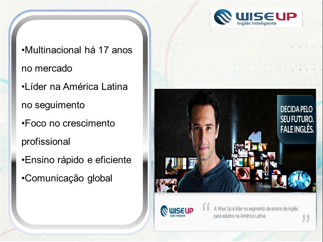 Multinacional há 17 anos no mercado Líder na América Latina no seguimento Foco no crescimento profissional Ensino rápido e eficiente Comunicação globa
