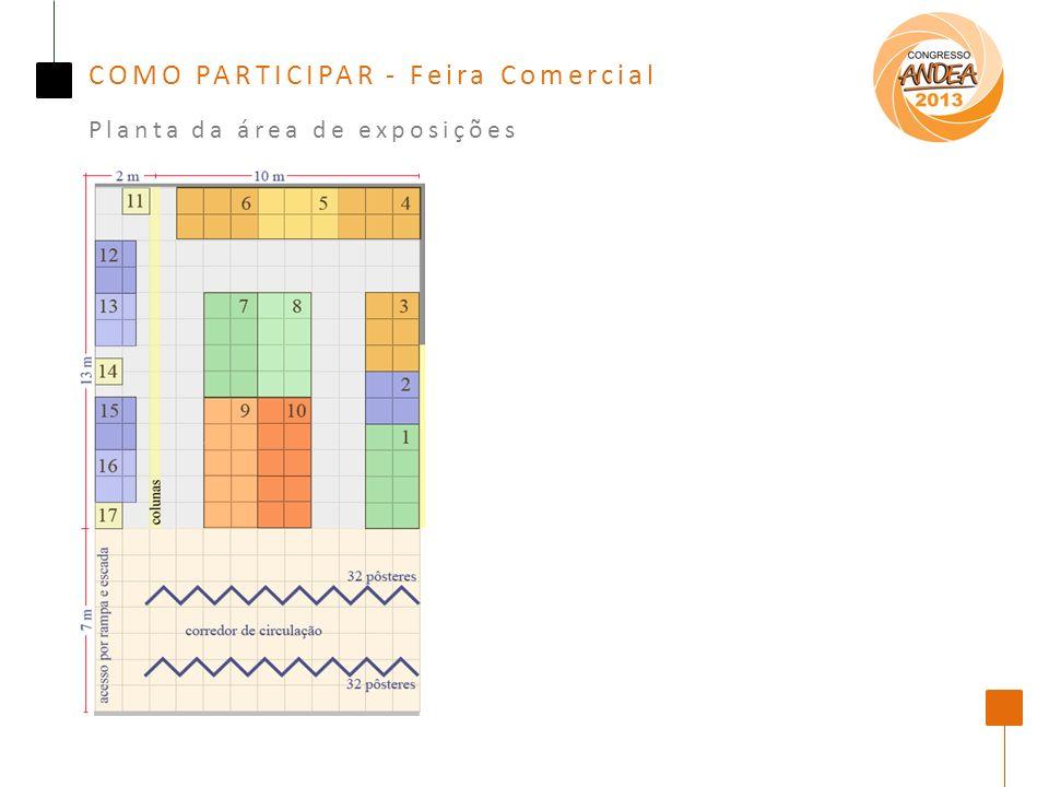 COMO PARTICIPAR - Feira Comercial Planta da área de exposições