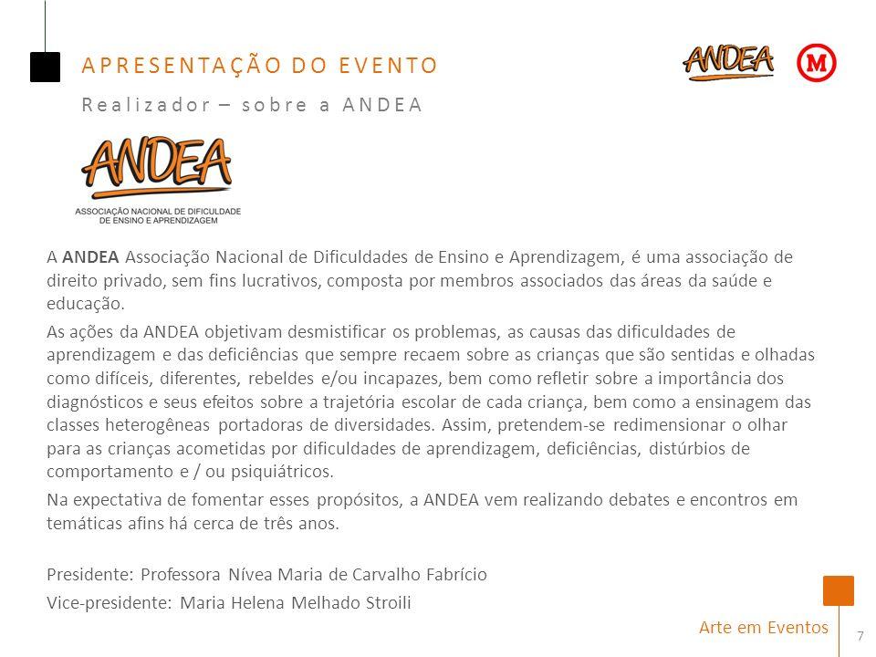 A ANDEA Associação Nacional de Dificuldades de Ensino e Aprendizagem, é uma associação de direito privado, sem fins lucrativos, composta por membros associados das áreas da saúde e educação.