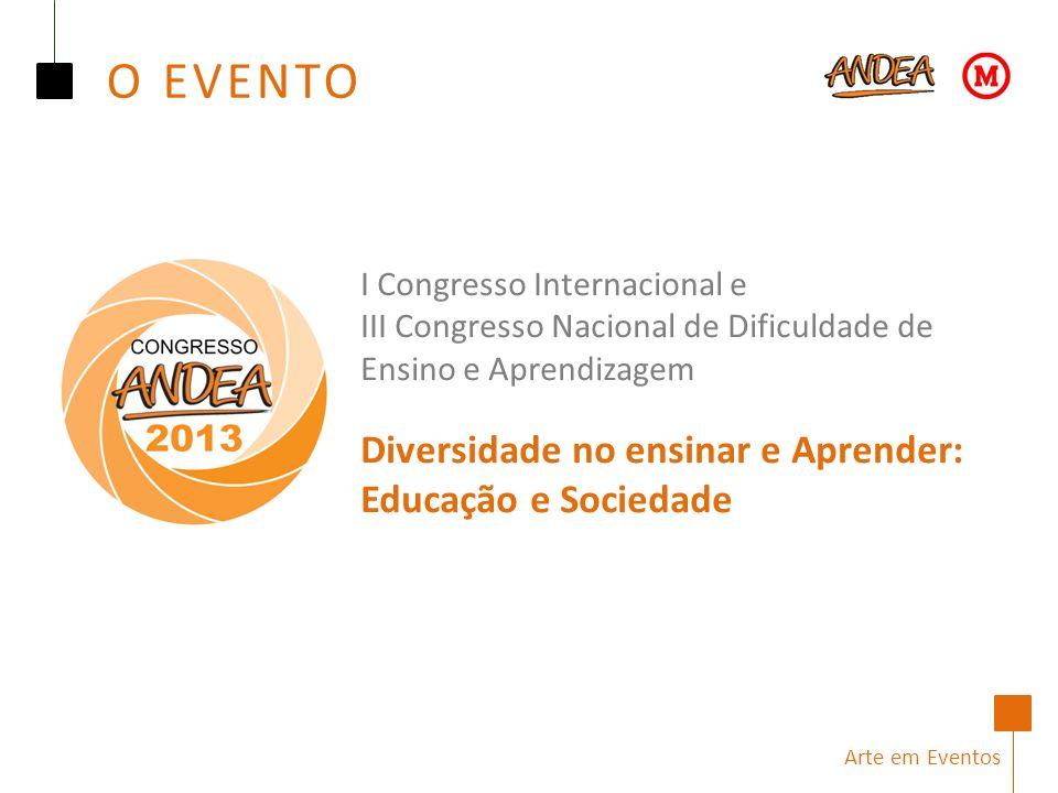 Arte em Eventos I Congresso Internacional e III Congresso Nacional de Dificuldade de Ensino e Aprendizagem Diversidade no ensinar e Aprender: Educação e Sociedade O EVENTO