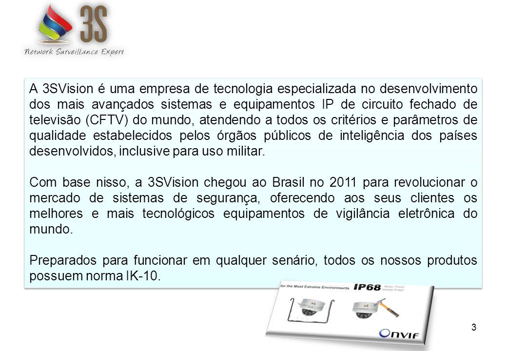 3 A 3SVision é uma empresa de tecnologia especializada no desenvolvimento dos mais avançados sistemas e equipamentos IP de circuito fechado de televis