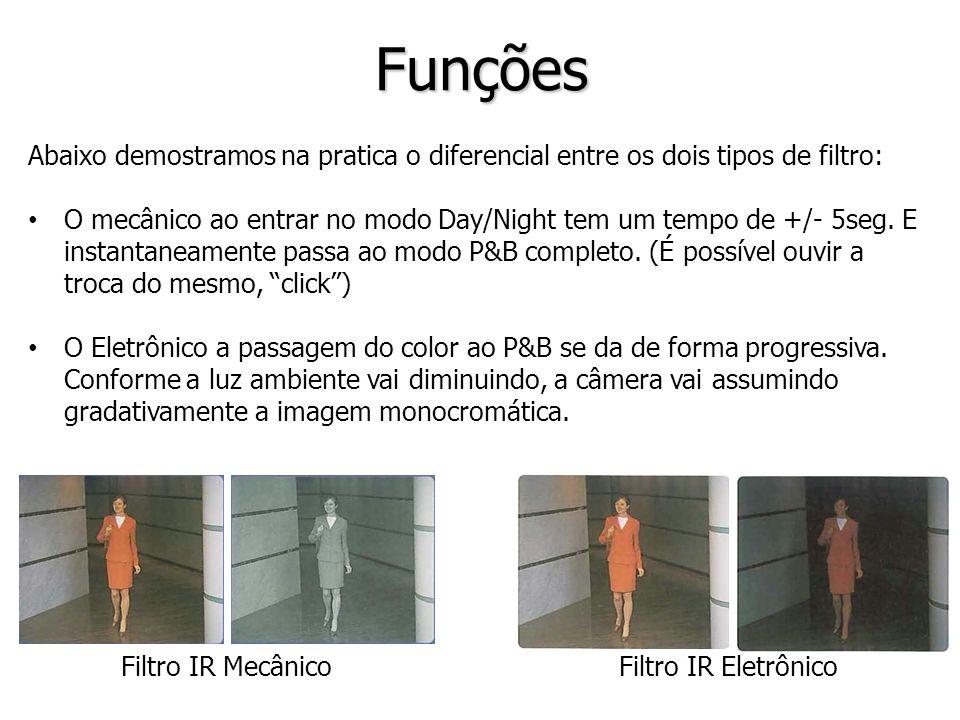 Filtro IR MecânicoFiltro IR Eletrônico Funções Abaixo demostramos na pratica o diferencial entre os dois tipos de filtro: O mecânico ao entrar no modo