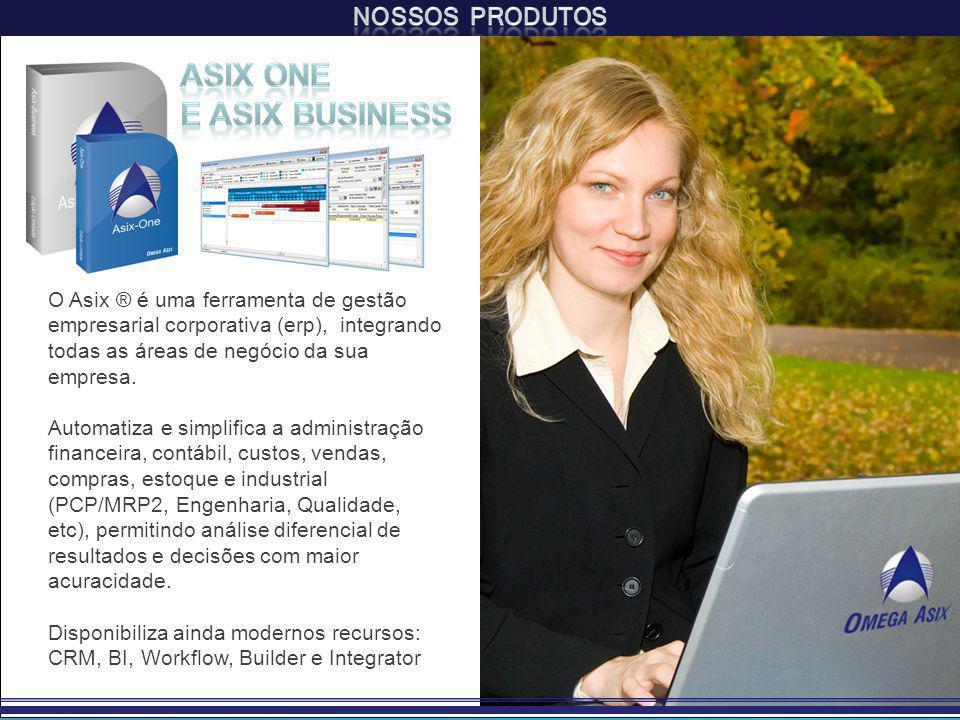 O Asix ® é uma ferramenta de gestão empresarial corporativa (erp), integrando todas as áreas de negócio da sua empresa.